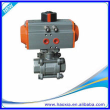 Q611F-16P stainless steel pneumatic thread ball valve 1 inch with High Quality