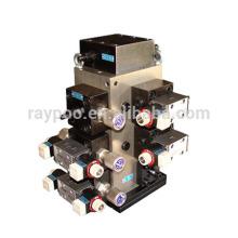 O sistema hidráulico é aplicado à prensa hidráulica para a corrente da trilha