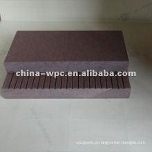 wpc polido wpc superfície sólida do decking