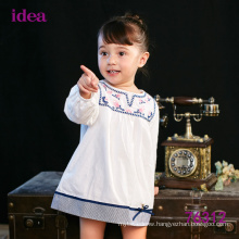 76312 Wholesale Fancy White Embroidered Dress For Baby Girl