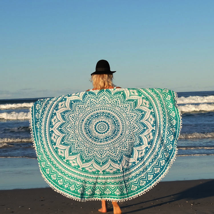 wholesale round beach towels