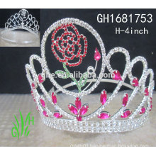 New designs rhinestone royal accessories custom pageant crowns and tiaras