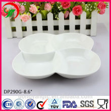 Custom wholesale porcelain white restaurant dinner plate sets