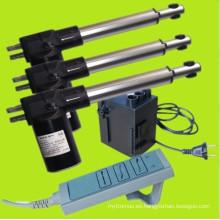 Kits12v del actuador Linear eléctrico o a 24v DC 6000N con cable mando a distancia y auriculares (FY011 + FYK011 + FYH011)