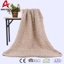 Novo produto cobertor de malha barato cobertor de malha robusto