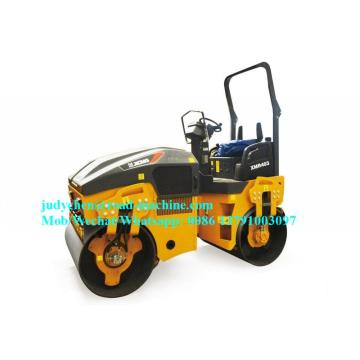 4t XMR403 getaran double drum road roller
