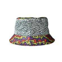 Baumwoll-Twill-Dame Sun-Hut-Wannen-Hut mit Normaldruck (U0053)