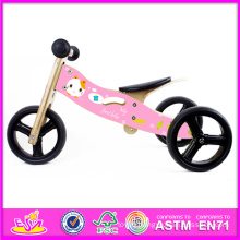 New and Popular Wooden Toy Kids Bicycle, Fashion and Modern Wooden Child Bicycle, Hot Selling Wooden Bicycle Toy for Baby W16c098