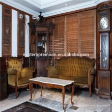 Persianas de persiana de madera de la plantación de madera sólida modificada para requisitos particulares superior vendedora