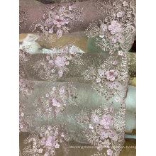 Stickerei aus weißer handgemachter Spitze für Hochzeitskleid 20