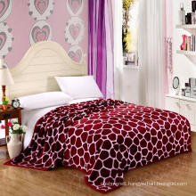 100% polyester king size flannel flush fleece blanket