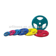 Color Rubber handel weight Plates