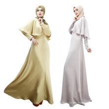 Doux de nombreuses couleurs polyester slim femmes abaya longue robe