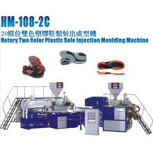 Rotary 2 Color TPU, PVC, máquina de inyección Tr Soles