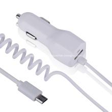 Chargeur de voiture 5v 2.1a avec micro-câble