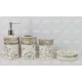Cuarto de baño de cerámica 4 piezas con decorado pintado a mano