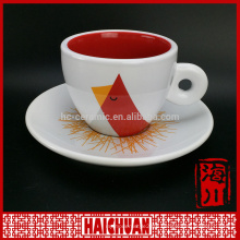 China factory coffee cup and saucer in animal design
