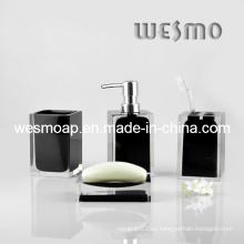 Baño de poliresina negro transparente (WBP0262C)