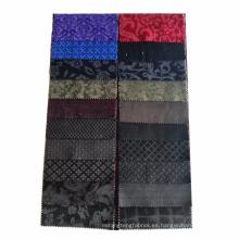 tela de terciopelo de algodón de diseño en relieve de alta calidad