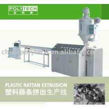 Línea de extrusión de plástico rota