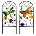 """Décoration de printemps Metal Garden Fence Craft avec """"Welcome"""""""