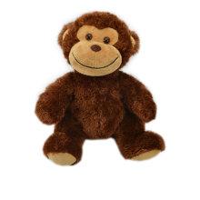 Juguetes suaves de animales de la selva rellenos de peluche mono para la venta al por mayor