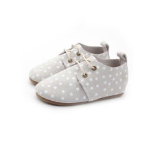 Gummi Sole Polkadot Leather Kid Shoe Grossist