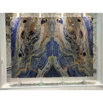 Dalle de sodalite bleue pierre précieuse