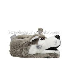 Women's Grey Wolf indoor Slipper winter animal slippers