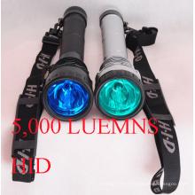 5000lumens lampe de poche HID avec 3 modes