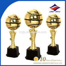 Classical round basketball metal trophy Chinese factory