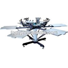 6 cores 6 estação carrossel camiseta máquina de impressão de tela de seda para venda