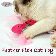 Brinquedos de gato para gatos Kitty peixe Shape interativo frenesi Catnip brinquedos