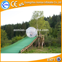 plastic colorful dots giant hamster ball inflatable zorb ball on hot selling