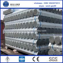 Propriétés professionnelles de tuyaux en acier galvanisé liquide à eau et huile à haute qualité