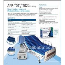 Nylon / PU-Streifen-Welligkeits-Luftmatratzen-System für Wechseldruck APP-T02