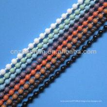 Cortinas de rolo 4,5 * 6 milímetros de plástico frisado bola corrente cortina, acessório de cortina, peças de rolo cego