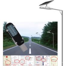 Luz de calle solar 6W, hogar o al aire libre usando la lámpara solar, luz al aire libre del jardín