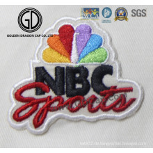 Neue bunte Zahlen Logo Sport Kundenspezifische 3D Stickerei
