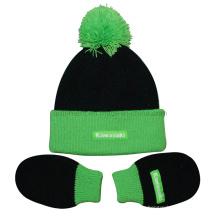 Младенческая свернуть акриловые трикотажные перчатки и шапочка Set (TRK043)