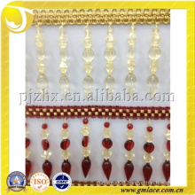 popular and high quality decorative curtain white acrylic beads