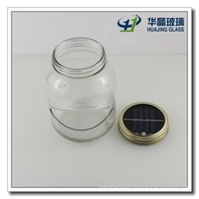 1000ml Solar LED Lid Glass Mason Jar Glassware
