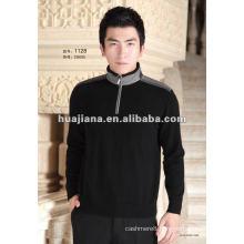 fashion men's zip pullover cashmere sweater