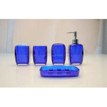 Dark Blue Painting Bathroom Collection Sets Tumbler , Tooth