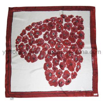 Alta qualidade senhora quadrado lenço / lenço / bandana