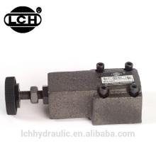 pressão de válvulas de alívio hidráulica pesada