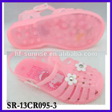 SR-13CR095-3 (1) kids plastic jelly sandals chldren pvc sandals fashion china wholesale children jelly sandals