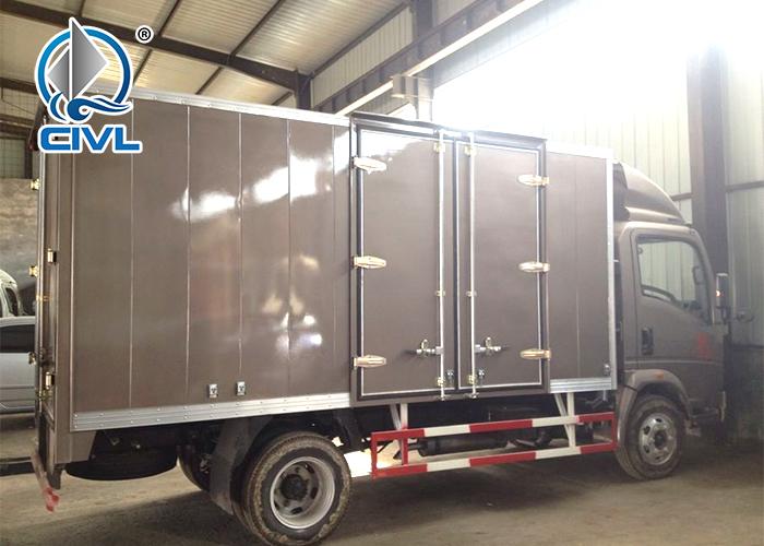 Brown Van Cargo Truck 4