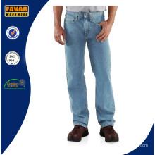 Mens прямые ноги расслабленной джинсы подходят работы