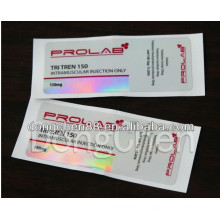 Cheap Medicine Packaging Sticker 10ml Hologram Vial Label